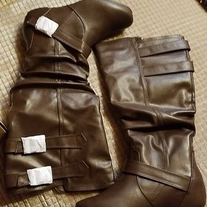 Brinley Co Womans Slouch boots